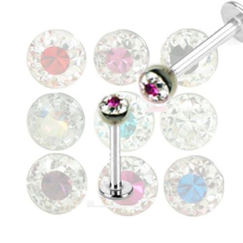 Helix Piercing Stecker mit 4mm Epoxidharz Kugel
