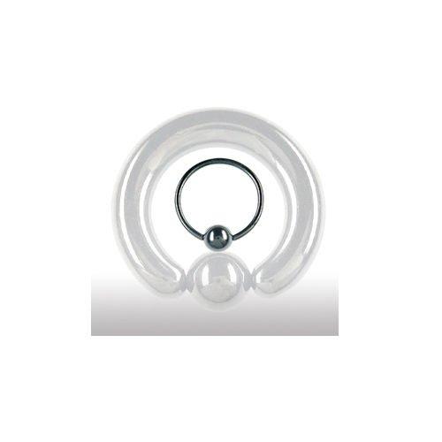 Ohr Helix Piercing Ring schwarz 1,0mm Nasepiercing