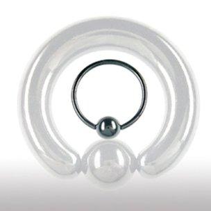 Intimpiercing Ring schwarz 6mm Stärke