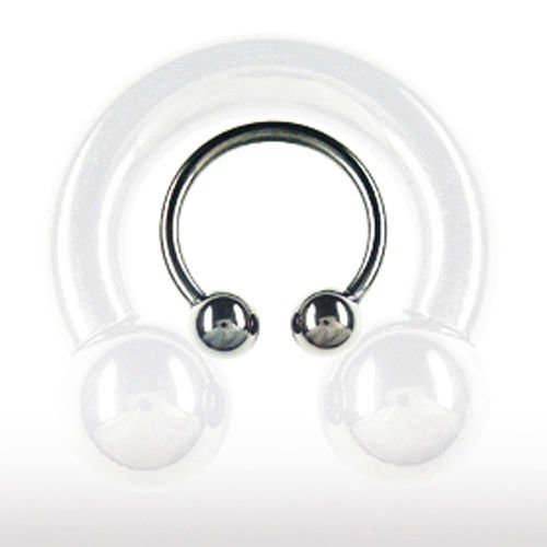 Lippenpiercing Schwarz Hufeisen 1,6mm Septum Ring