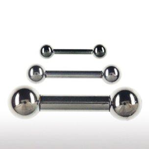 Intim piercing schmuck Schwarz 3mm Stecker