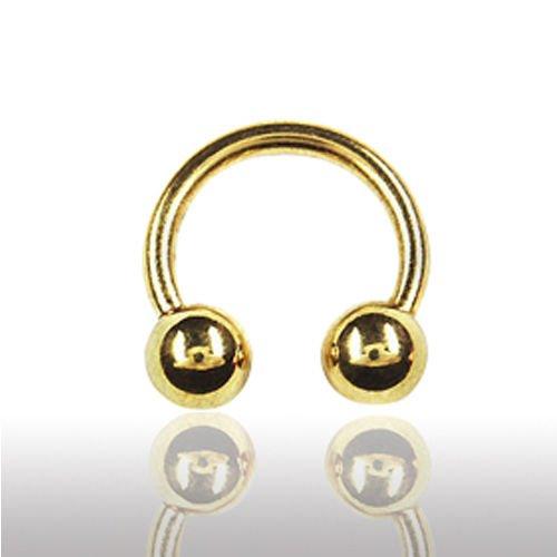 Lippenpiercing Gold Hufeisen Septum Ring