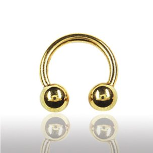 Lippenpiercing Gold Hufeisen Septum Ring