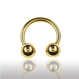 lippenpiercing Gold Hufesien 1,6mm Septum Ring