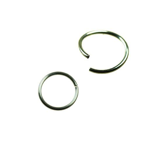 Nasenpiercing Ring silber zum Biegen