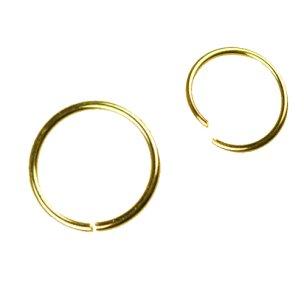 Nasenpiercing Ring gold zum Biegen