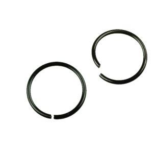 Nasenpiercing Ring schwarz zum Biegen