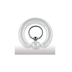 Ohrpiercing Schwarz Ring 1,2mm Septum Piercing
