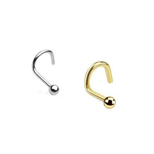 nostril piercing ring in Silber und Gold