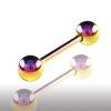 Barbell Piercing 1,2mm regenbogen