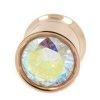 Großer Kristall Rosegold Flesh Tunnel Ohr Piercing