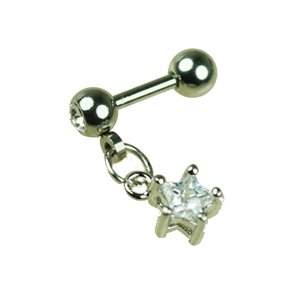 Stern Kristall Anhänger Ohr Helix Piercing Schmuck