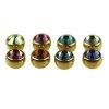 Gold Piercing Kugel 1,2mm groß kristall big Stone