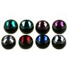 schwarz Piercing Kugel 1,6mm groß kristall big Stone