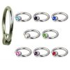 Lippenbändchen Piercing Ring mit 4mm Glitzer