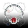 Brustwarzen Piercing Ring mit 5mm Glitzer
