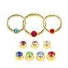 Helix Piercing gold Ring 1,2mm mit Glitzer