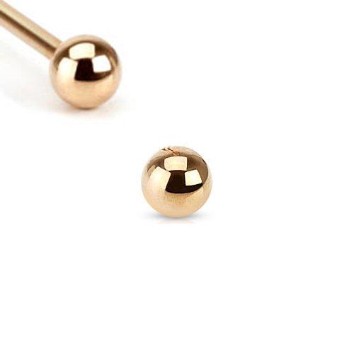 Rosegold Piercing Kugel Set 1,2mm 4 Stück