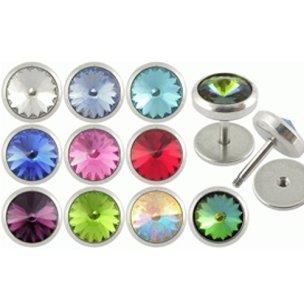 Fake Plug große Kristall viele Farbe