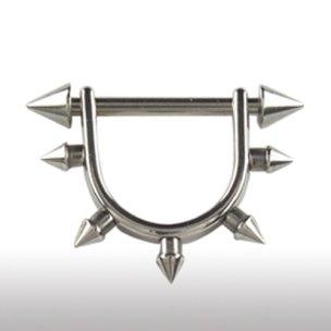 Brust Piercing Stab mit Bogen und Spitzen