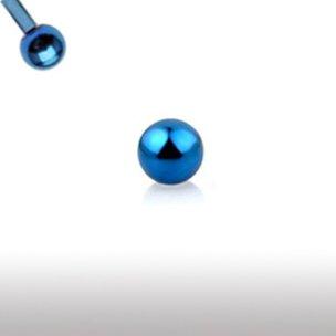 Blaue Piercing Kugel aus Chirurgenstahl