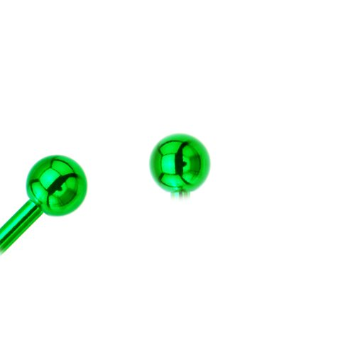 Grüne Piercing Kugel aus Chirurgenstahl