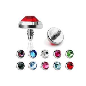 Dermal Anker piercing Aufsatz mit Kristall
