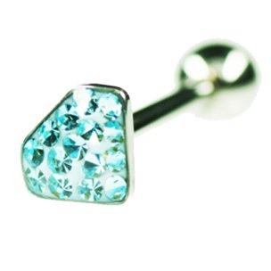 Diamant ohr stecker glitzer Barbell Kugel Verschluß