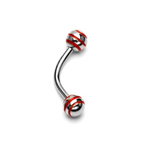 Eskimo Piercing Bananebell mit rote Streifen