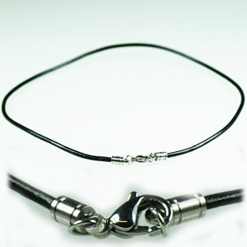 leder halsband schwarz 2mm