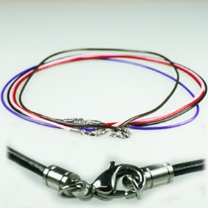 bunte baumwolle halsband 2mm