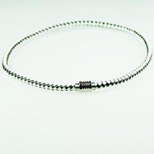 2-farbig leder halsbandmit magnetverschluss