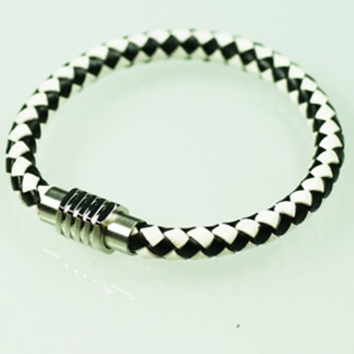 2-Farbig leder armband magnetverschluss