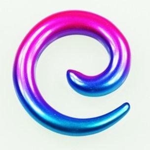 Dehnschnecke bunt Galaxy Farbe Blau-Rosa