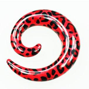 Dehnschnecke rote Leoparden zum ohr dehnen