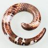 Dehnschnecke Schlangenhaut zum ohr dehnen
