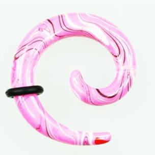 Dehnschnecke Marmor Rosa zum ohr dehnen