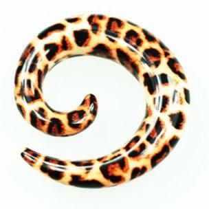 Dehnschnecke leoparden zum ohr dehnen