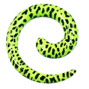 Dehnschnecke Neongrün Leoparden zum ohr dehnen