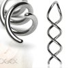 piercing spirale ohr lobe piercing