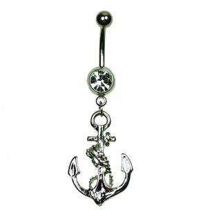 Anker & Seil Gold Schwarz Silber Bauchnabel Piercing...
