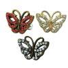 Bronze Rosegold Schmetterling mit Kristallen Ohr Helix Stecker