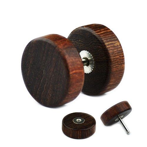 Fake Plug Holz in 8mm, 10mm und 12mm