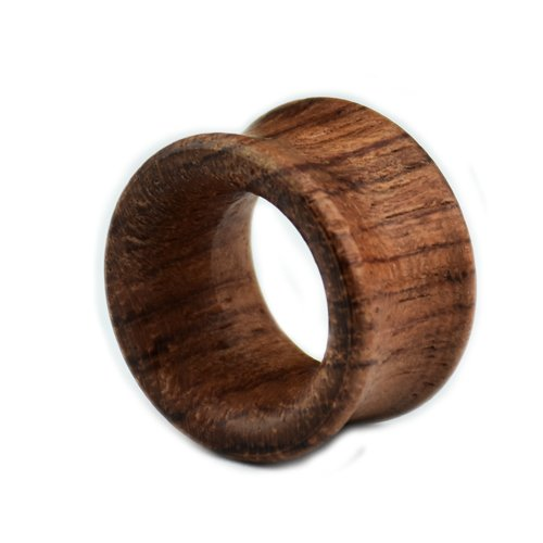 Ohr Plugs double flared Holz Tunnel Braun