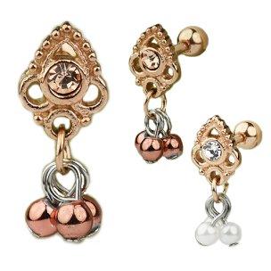Ornament mit Perlen Anhänger Ohr Helix Piercing...