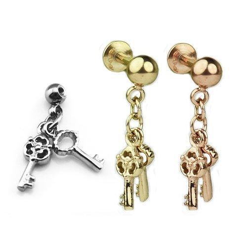 Ohr piercing Schlüssel in Gold, Rosegold und Silber