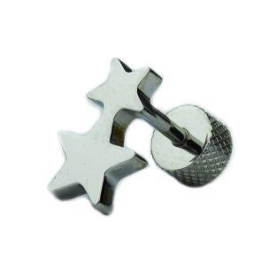 Ohr Piercing Doppel-Stern Fake Plug