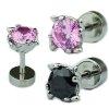 Blüte mit großem Kristall Ohr Helix Tragus Piercing