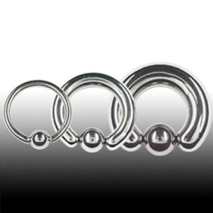Intimpiercing Mann 4 mm Ohr Piercing Ring