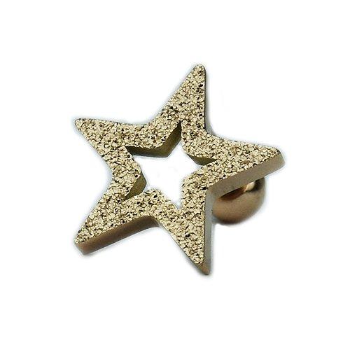Rosegold Stern Sand gestrahlt Ohr Helix Piercing Stecker